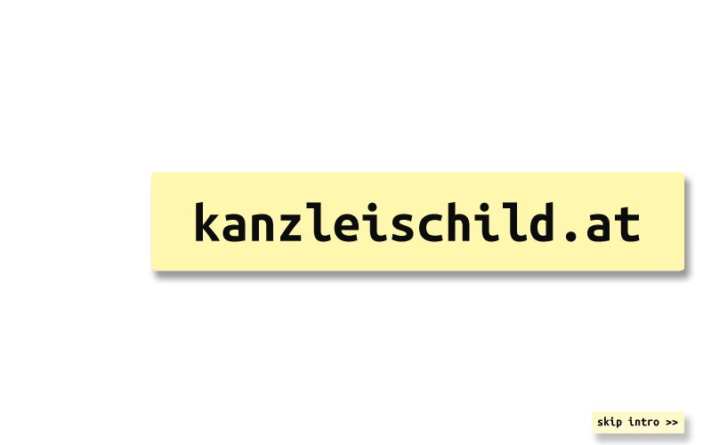 kanzleischild.at intro